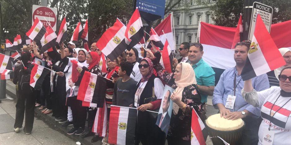 """الجالية المصرية بأمريكا تطلق هاشتاج """"نثق فى الرئيس"""" قبيل زيارة السيسى لنيويورك"""