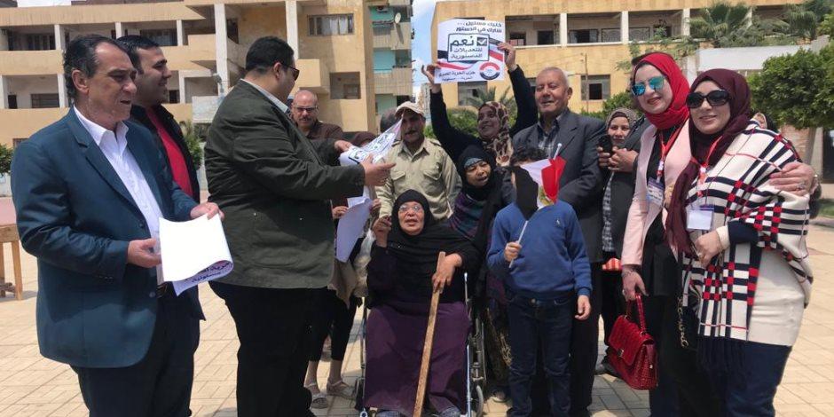 قيادات حزب الحرية المصري بالدقهلية يدلون بأصواتهم في التعديلات الدستورية