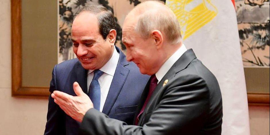 السيسي وبوتين.. تفاصيل القمة المصرية الروسية على هامش «الحزام والطريق»