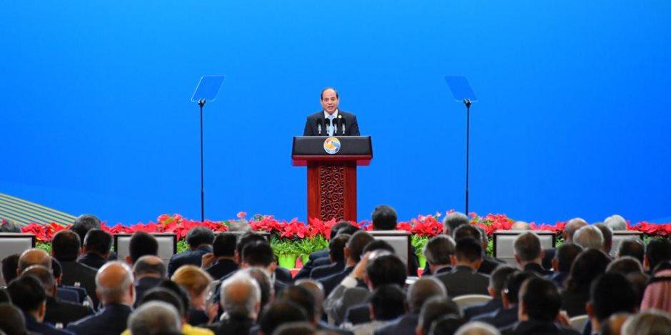 الرئيس السيسي يصل أرض الوطن بعد مشاركته في قمة «الحزام والطريق» بالصين (صور)