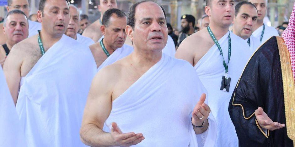 الرئيس السيسي يؤدي مناسك العمرة (صور)