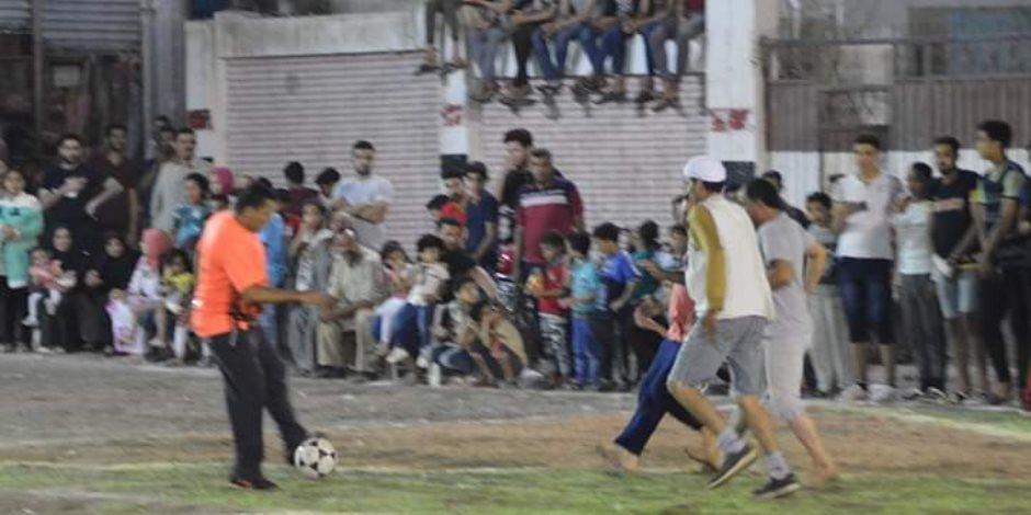 مباراة كرة قدم بـ «الجلابيب» على طريقة «الكبير أوي» في الدقهلية (صور)