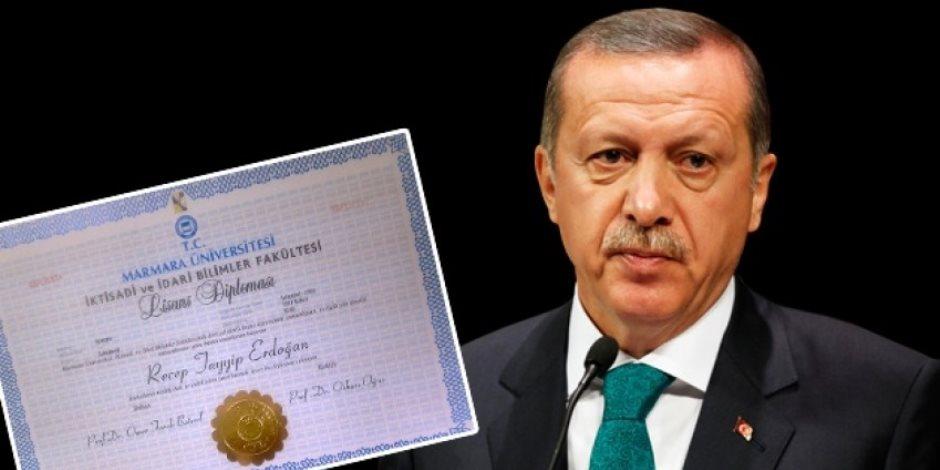 «مكملش تعليمه».. أردوغان زور شهادته الجامعية وهذا نصيب من فضح أمره