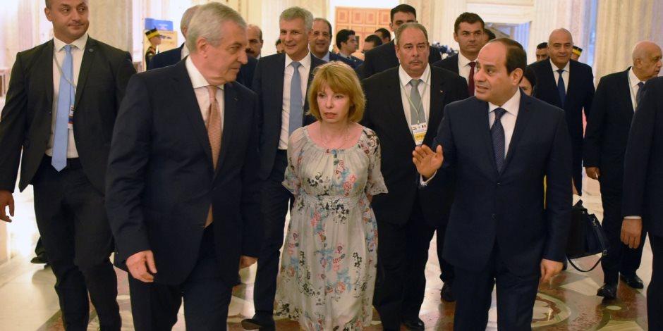 السيسي يبحث التعاون العسكري والأمني والتدريب مع رئيس أركان رومانيا
