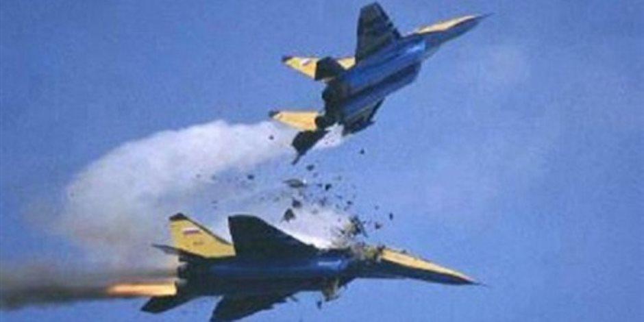 تصادم طائرتى تدريب عسكريتين قطريتين فى سماء الدوحة