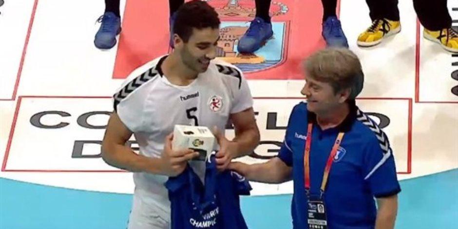 لاعب «شباب اليد» محسن رمضان الأفضل في مباراة مصر وصربيا بمونديال روسيا