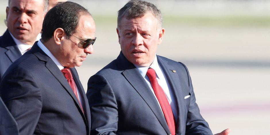 القضية الفلسطينية ومحاربة الإرهاب.. ملفات على طاولة الرئيس السيسي وملك الأردن