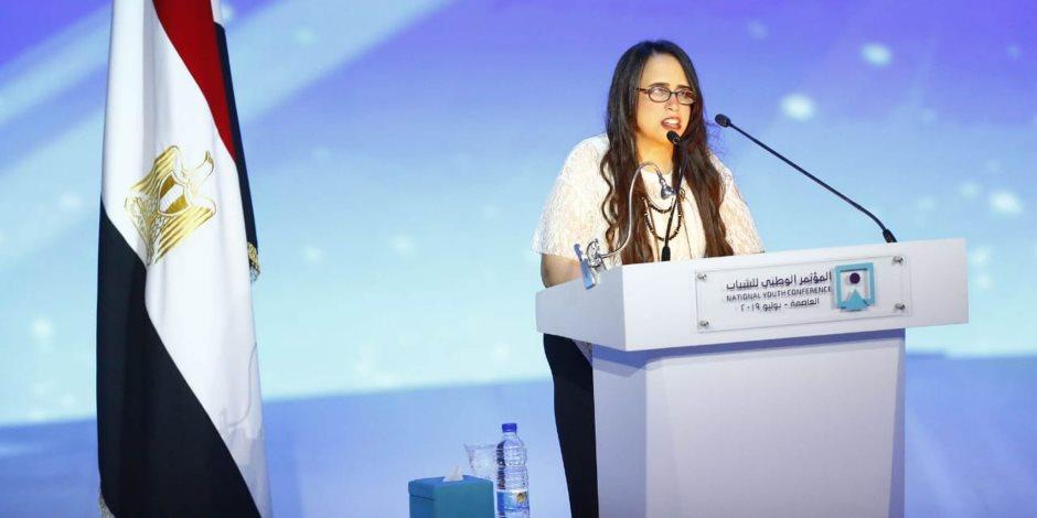 مصر تتحدث عن نفسها.. هديل ماجد أم كلثوم جديدة ولدت في مؤتمر الشباب