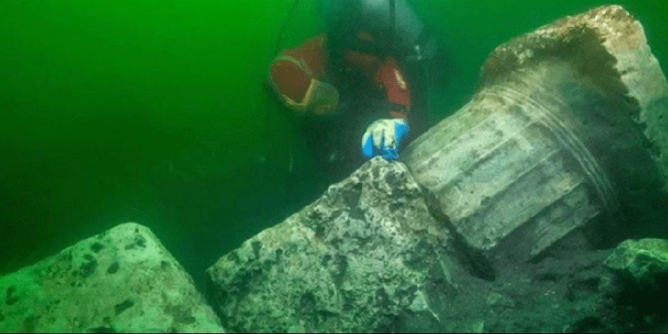 من بحري وبنحبوه.. باحثون مصريون وأوروبيون يكتشفون آثاراً غارقة بـ«أبو قير» تعود لألفي سنة