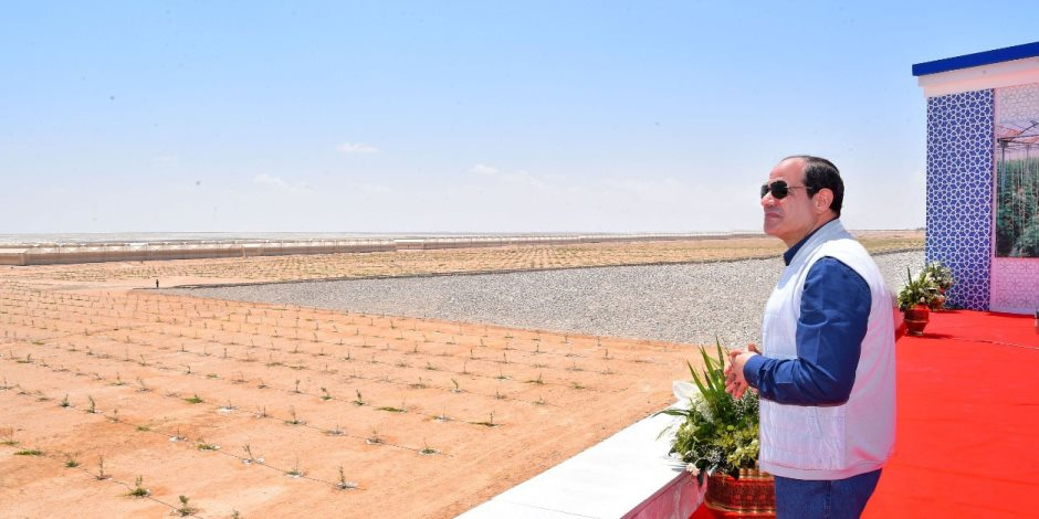 بث مباشر.. السيسى يفتتح 1300 صوبة زراعية على مساحة 10 آلاف فدان