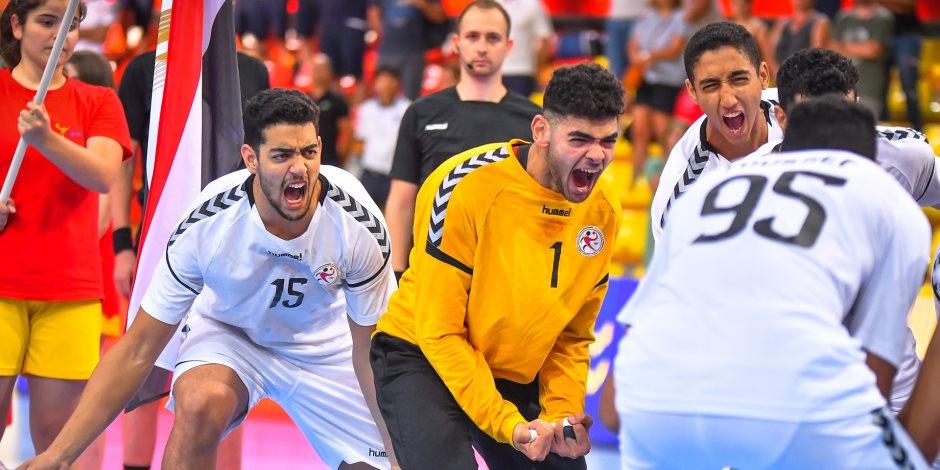 ناشئي منتخب مصر لكرة اليد يتقدمون على منتخب ألمانيا في الشوط الأول من نهائي كأس العالم بفارق 6 أهداف
