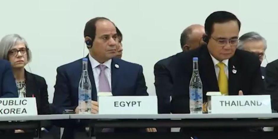 مصر تقود القارة السمراء.. السيسي يتحدث باسم إفريقيا في قمة السبع الكبار