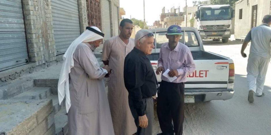 تفاصيل خطة تجميل ميادين ورصف ورفع كفاءة شوارع بئر العبد بسيناء (صور)