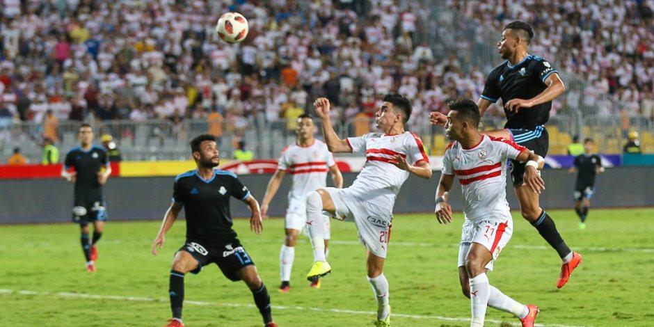 الزمالك يفوز على بيراميدز بثلاثية نظيفة في نهائي كأس مصر باستاد برج العرب