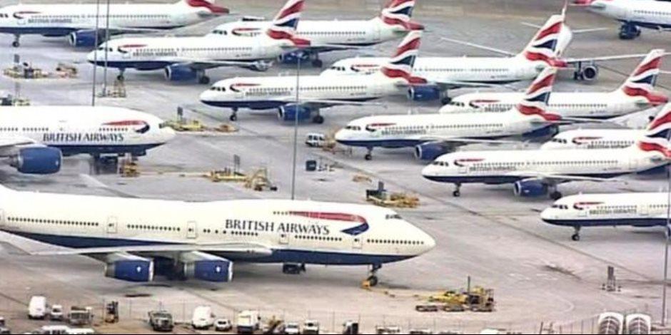 «الرواتب» كلمة السر في شل حركة الطيران بسماء بريطانيا