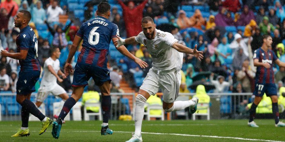 بأقدام بنزيما.. ريال مدريد يتقدم لوصافة الدوري الإسباني مؤقتًا بالفوز على ليفانتي