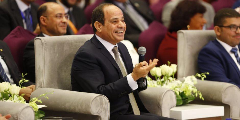 الرئيس السيسي: مسار التعليم الحالي يهدف لإعادة صياغة الشخصية المصرية