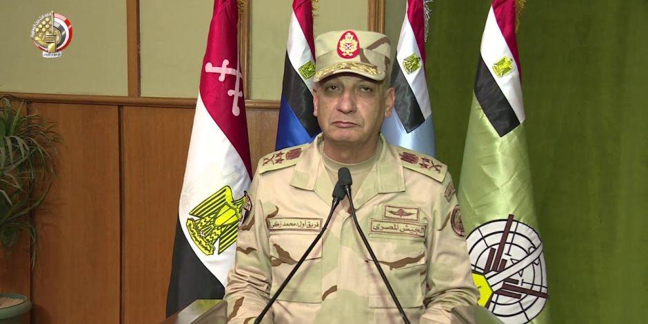 وزير الدفاع: رجال القوات المسلحة ماضون فى آداء مهامهم المقدسة لحماية الوطن