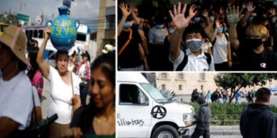 جولة في صحف العالم.. تظاهرات فىيالسلفادور احتجاجا على خصخصة شركات المياه(صور)