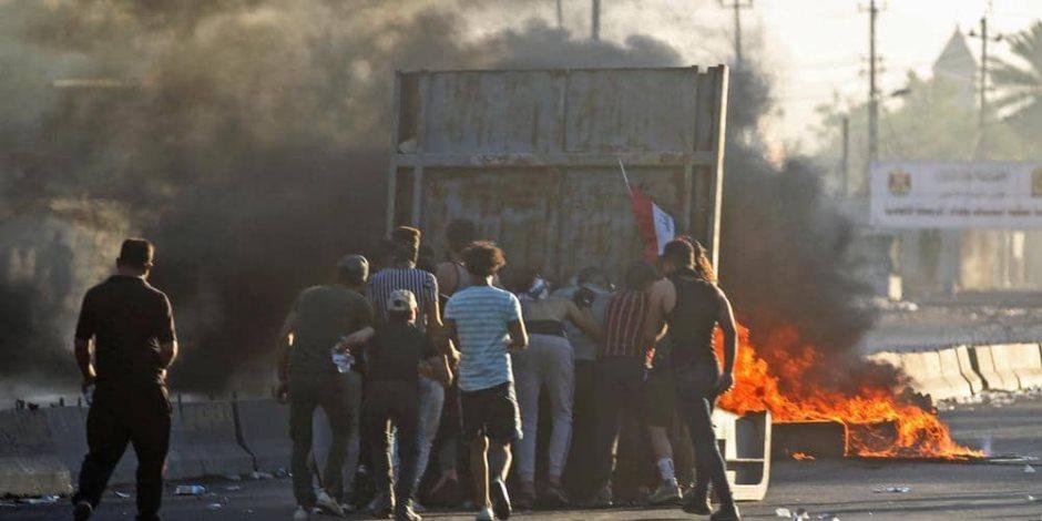 احتجاجات متجددة في جنوب العراق.. تعطيل الدراسة بمحافظة المثنى وقطع الطرق في كربلاء