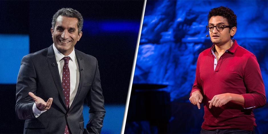 """محامي دولي يفضح باسم يوسف ووائل غنيم على السوشيال ميديا: """"محدش فيكم يقدر يشتم ترامب"""""""