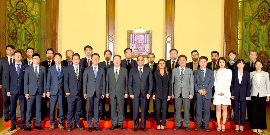 مستثمرين كوريين للرئيس السيسى: مصر بوابة عبور التجارة والاستثمارات الكورية إلى أفريقيا