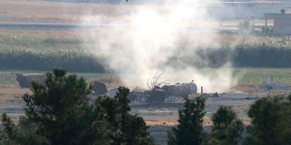 """تركيا تواصل عدوانها على الاراضى السورية.. و""""سوريا الديمقراطية"""" تسقط طائرة تابعة للاحتلال التركى"""