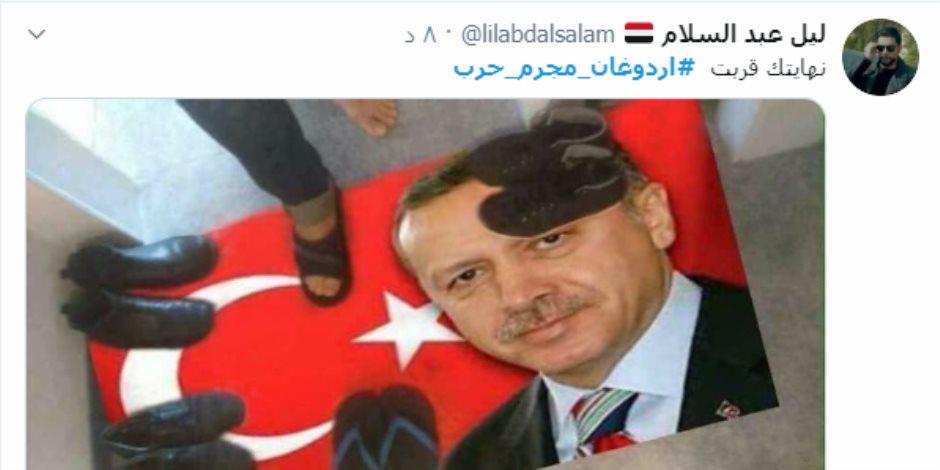 «وصفوه بهتلر عثماني» .. هاشتاج «أردوغان مجرم حرب» يتصدر تريند تويتر ( صور )