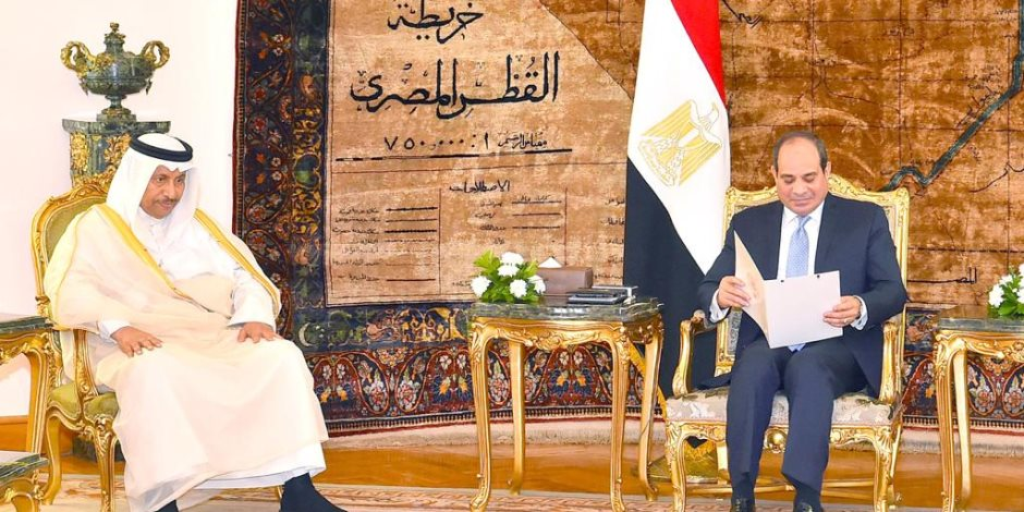 السيسى يستقبل رئيس الوزراء الكويتى
