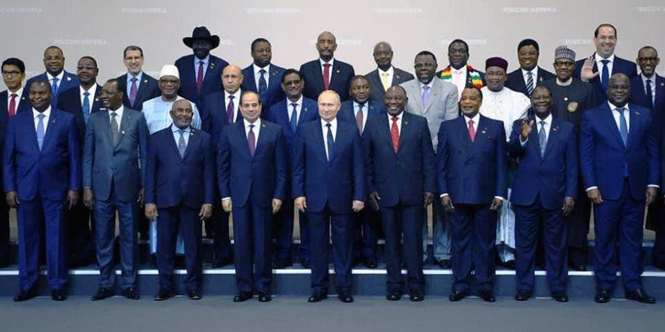 حصاد نشاط الرئيس عبدالفتاح السيسي في أول قمة روسية أفريقية بـ«سوتشي» (فيديو)