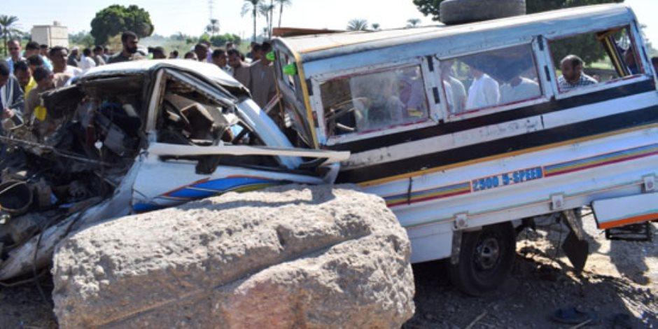 المصابون يروون تفاصيل الحادث.. آخر تطورات حادث قطار الأقصر (صور)