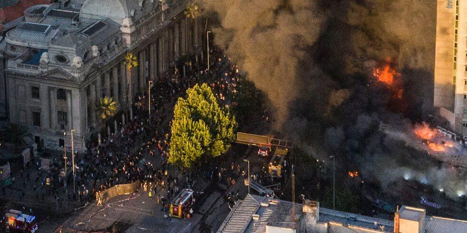 335 مليون يورو خسائر الفوضى في تشيلي.. 7 آلاف معتقل وخسائر في الأرواح
