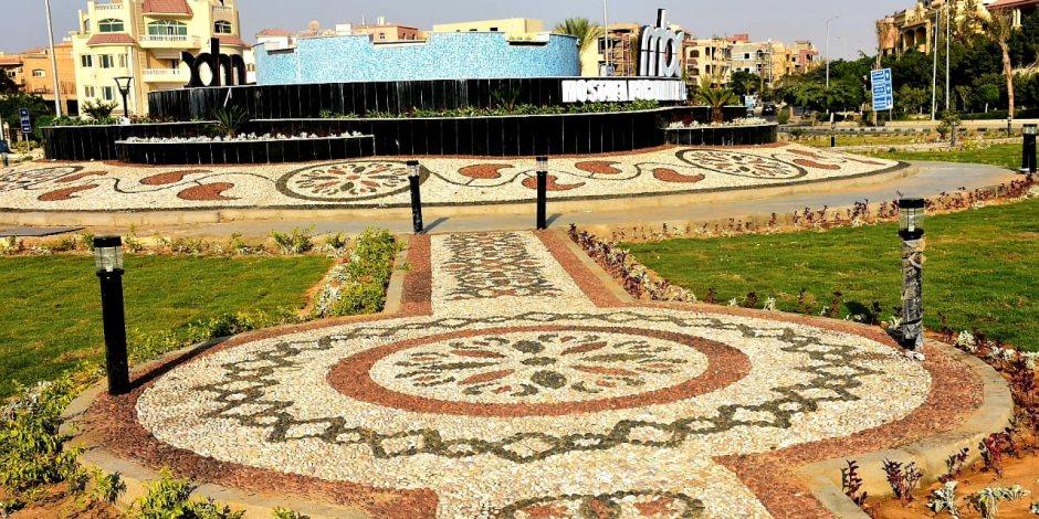 الانتهاء من تطوير المرحلة الثانية بميدان النهضة بمدينة الشروق (صور)