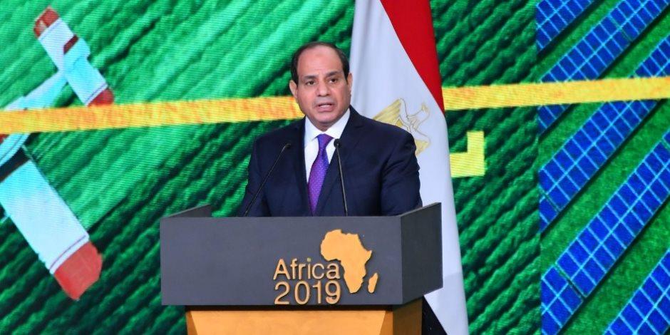 السيسي من مؤتمر أفريقيا 2019: القارة السمراء مليئة بالفرص والتحديات