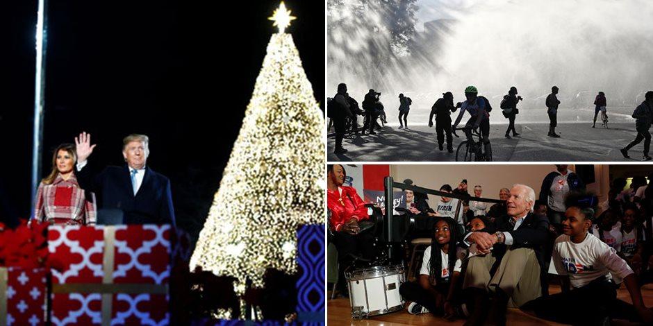 جولة في صحف العالم.. إضاءة شجرة الكريسماس الرئيسية احتفالا بأعياد الميلاد بواشنطن