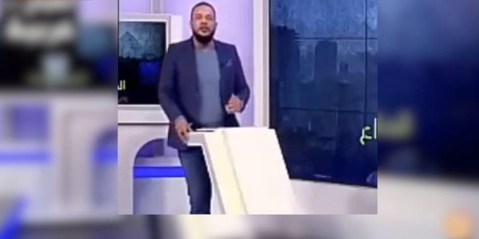 وصلة نفاق من مذيع مغمور بقناة مكملين لولي نعمتة أردوغان (فيديو)