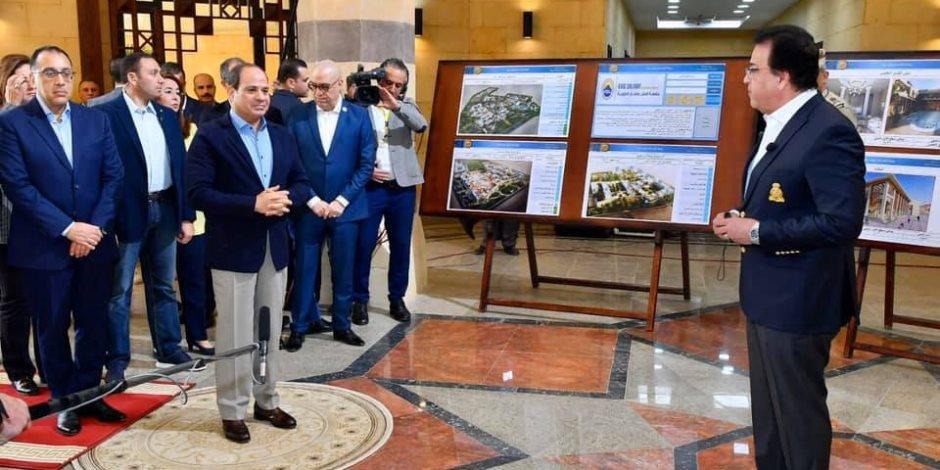 الرئيس السيسي يزور جامعة الملك سلمان بن عبد العزيز بشرم الشيخ (فيديو)