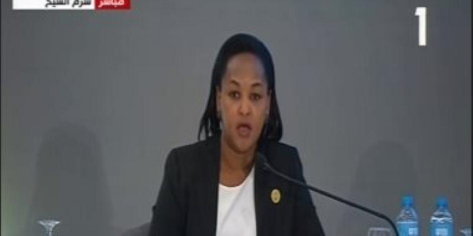 وزيرة الشباب الرواندية: أشكر الرئيس السيسي لدعم مشاركة الشباب في إدارة الدولة