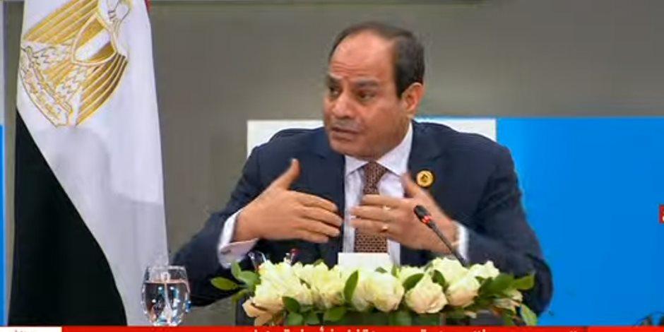 السيسى: لدينا مسارات في قضية سد النهضة.. ومن يريد التنمية لا يتحدث عن قتال