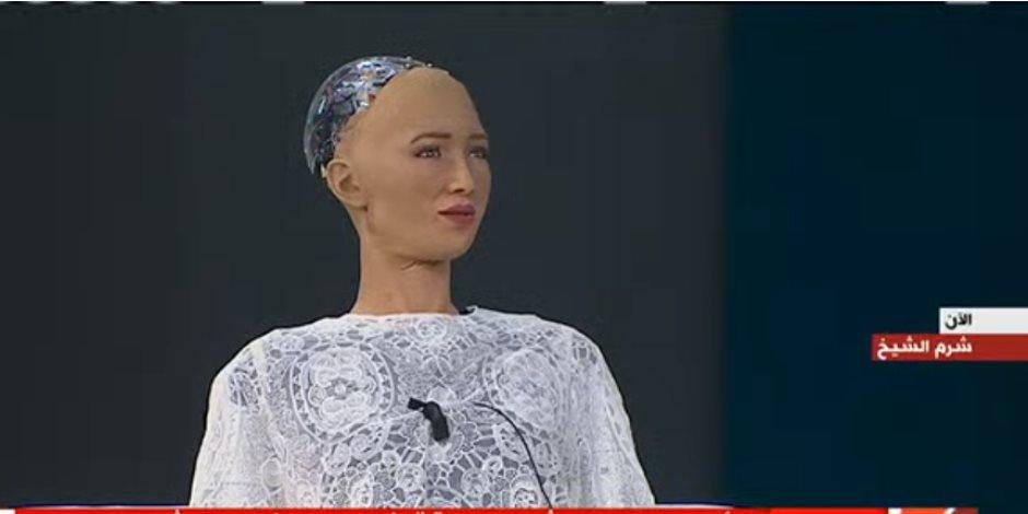 الروبوت صوفيا: سأفتقد مصر وعلى البشر أن يربوا الروبوتات كما يربون أطفالهم