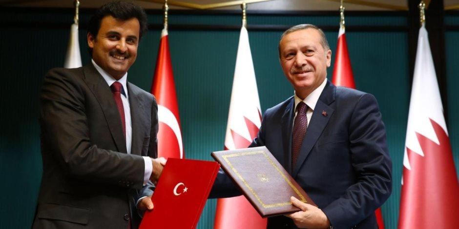 لقاء الخونة.. أردوغان يتفق مع تميم على دعم مليشيات ليبيا مقابل حماية قصر الدوحة