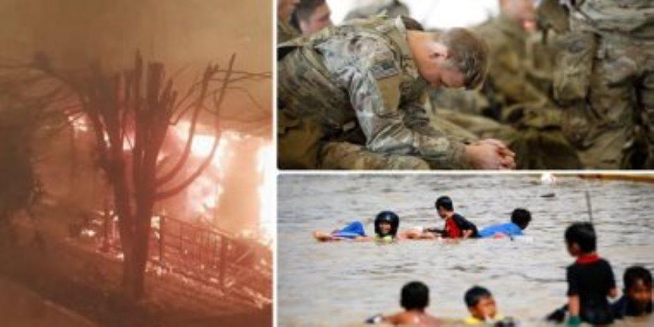 جولة مكوكية حول العالم.. قوات أمريكية تتجه للعراق لتأمين السفارة.. وفيضانات في إندونيسيا