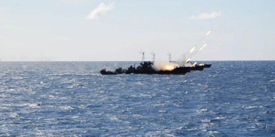 القوات البحرية تنفذ عملية تدريبية فى البحر المتوسط ..بمشاركة أسلحة متنوعة (صور)