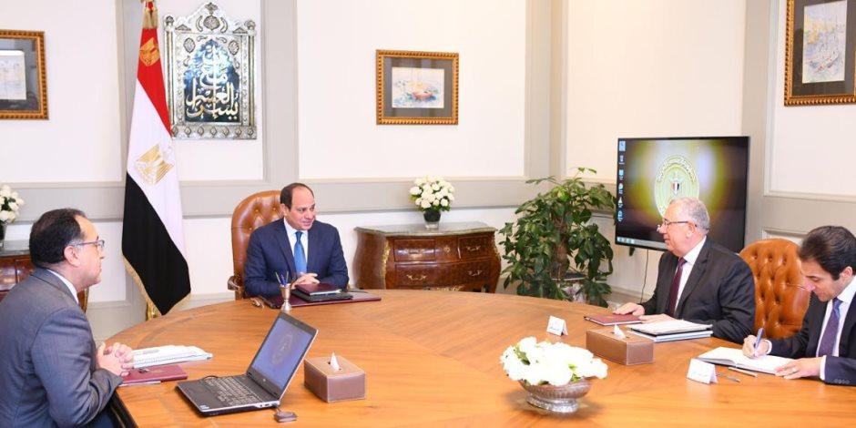 الرئيس السيسى يوجه بتطوير مؤسسي شامل للقطاعات والإدارات الزراعية