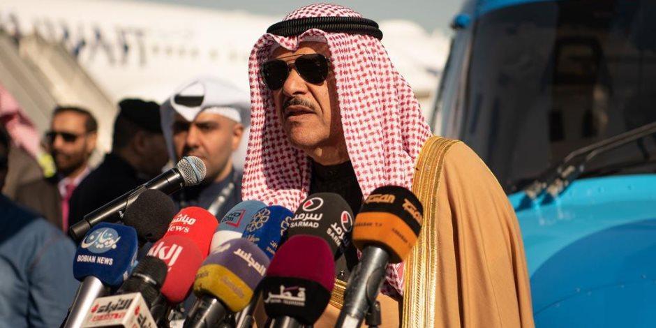 سلمان الحمود: رعاية أمير الكويت لمعرض الطيران 2020 تأكيد على دعمه لتطور صناعة الطيران