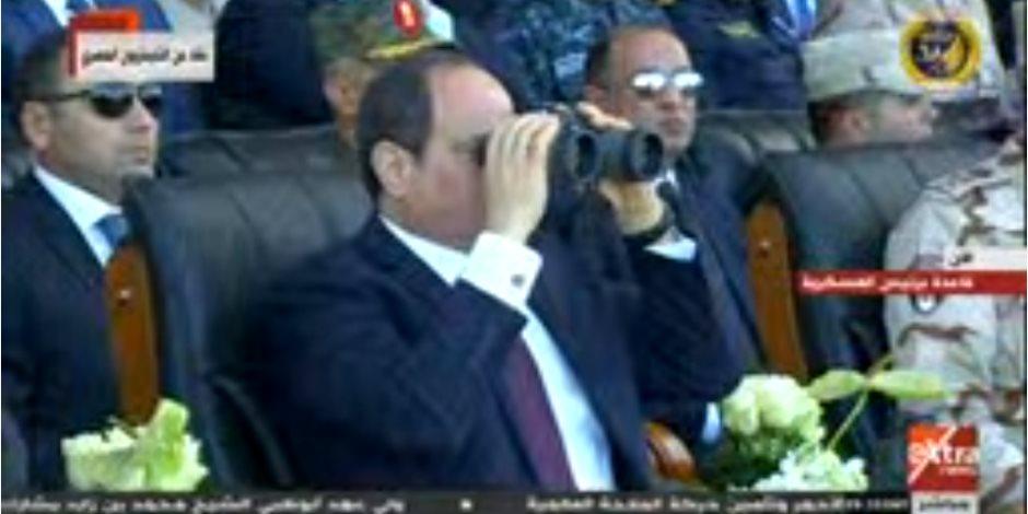 الرئيس السيسى يشهد عروضا جوية خلال افتتاح قاعدة برنيس العسكرية
