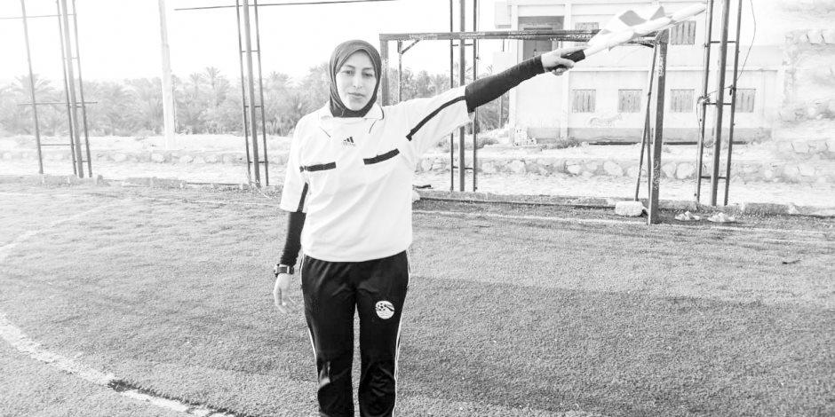 إسراء سالم أول حكم نسائي لكرة القدم في سيناء: أسرتي أول من شجعتنى وساندتني