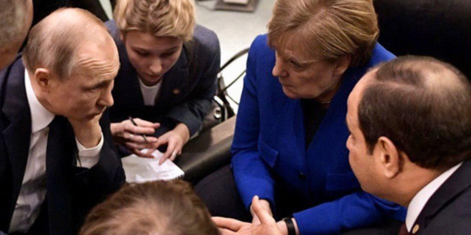 قمة برلين.. رئيس وزراء إيطاليا ينشر صور مباحثات بين قادة العالم بحضور السيسي