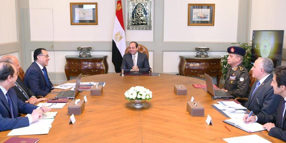 السيسي يبحث مع قيادات الدولة ملف سد النهضة: نواصل العمل للحفاظ على حقوقنا المائية