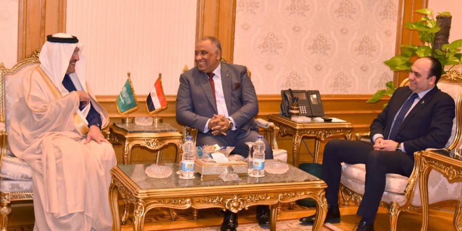 سفير المملكة العربية السعودية لدى مصر يزور هيئة الرقابة الادارية (صور)
